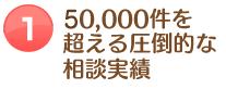 50,000件を超える圧倒的な相談実績